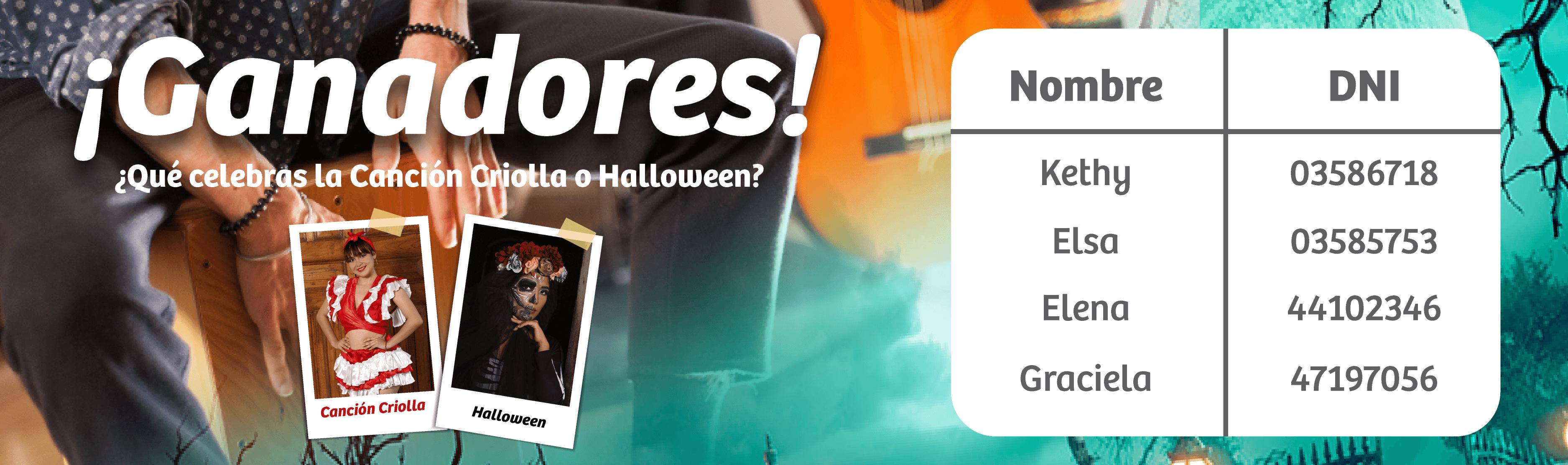 Ganadores Halloween